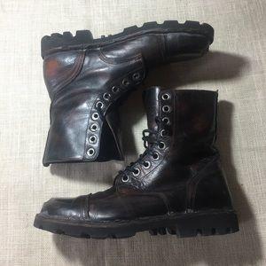 01e270e3a72 Diesel Hardkor Steel Toe Combat Boots, Mens 7.5 40
